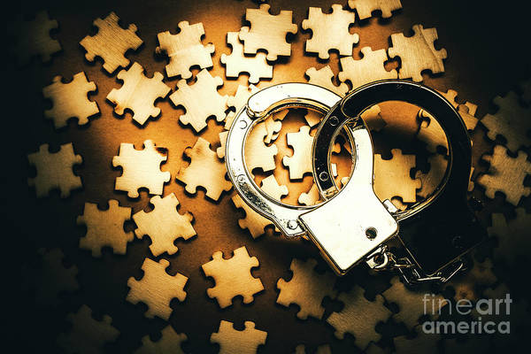 Entanglement Wall Art - Photograph - Jigsaw Of Misconduct Bribery And Entanglement by Jorgo Photography - Wall Art Gallery