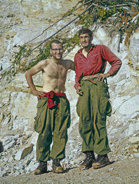 Photograph - T-902903-jim Baldwin And Ed Cooper After First Ascent Stawamus Chief  by Ed  Cooper Photography