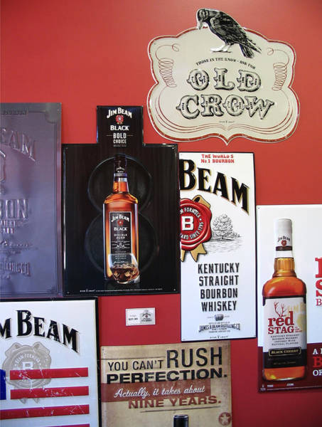 Wall Art - Digital Art - Jim Beam Black Double Aged - Red Stag  - Old Crow Signs by Marian Bell