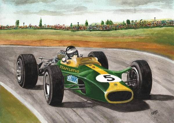 Chris Cox Painting - Jim Clark Natural Born Racer by Chris Cox