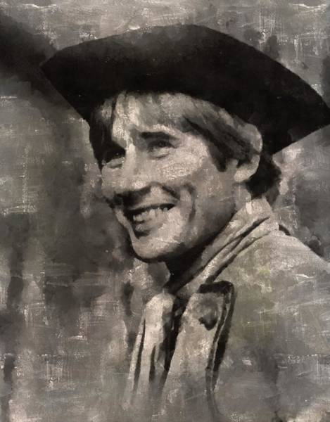 Jim Carry Painting - Jim Dale, Carry On Actor by Mary Bassett