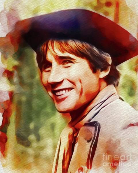 Jim Carry Painting - Jim Dale, Carry On Films Cast by John Springfield