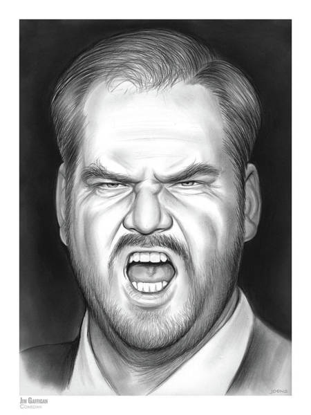Comedy Wall Art - Drawing - Jim Gaffigan by Greg Joens