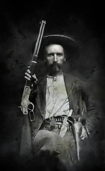Fort Worth Texas Digital Art - Jim Hawkins Texas Ranger  C. 1870 by Daniel Hagerman