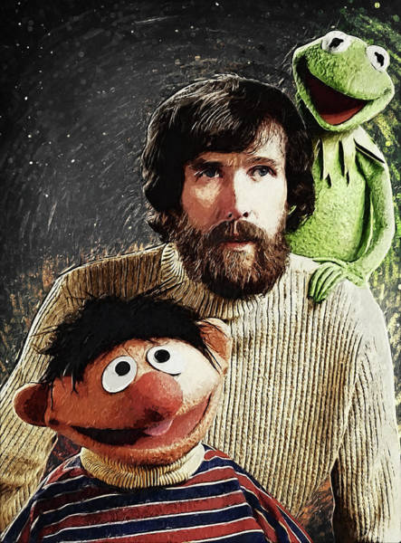 Wall Art - Digital Art - Jim Henson Together With Ernie And Kermit The Frog by Zapista Zapista