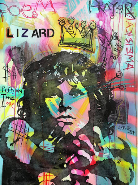 Painting - Jim Lizard King by Dean Russo Art