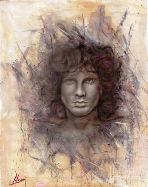 Rockstar Painting - Jim Morrison  by Alex Artman