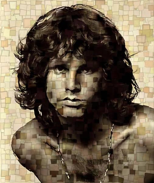End Times Digital Art - Jim Morrison Cubism by Dan Sproul