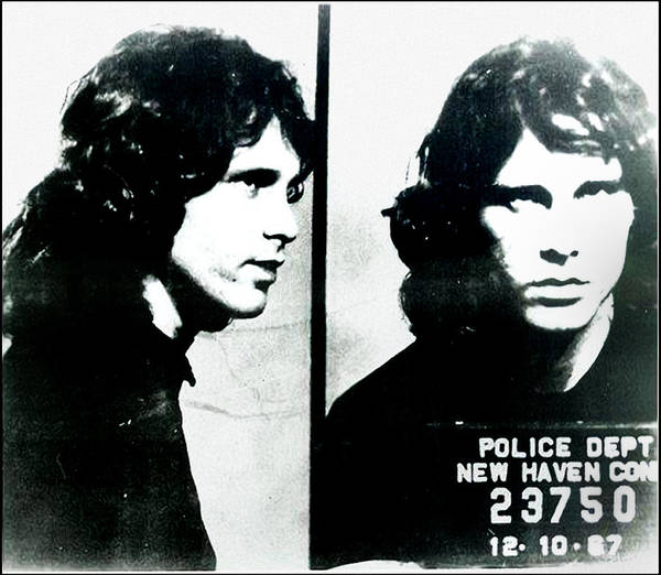 Mugshot Wall Art - Photograph - Jim Morrison Mugshot - New Haven Connecticut by Digital Reproductions