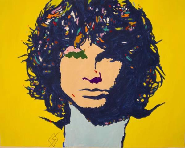 Mojo Painting - Jim Morrison by Stormm Bradshaw