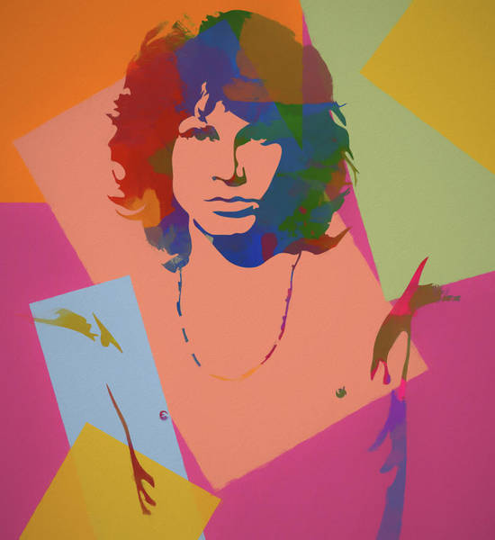 Whiskey Mixed Media - Jim Morrison The Doors  by Dan Sproul