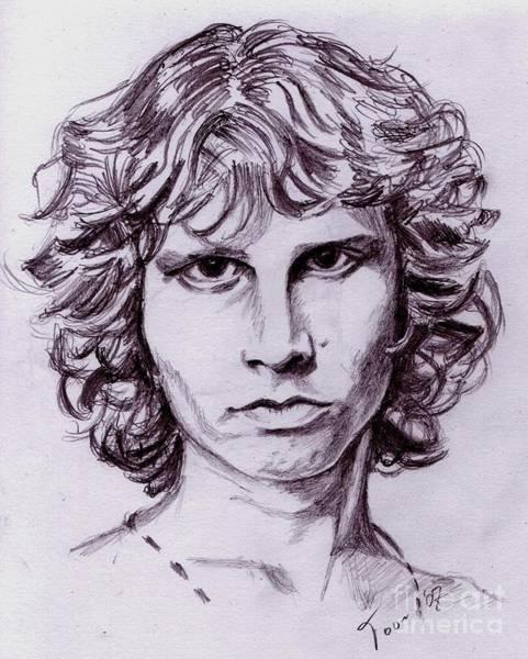 Drawing - Jim Morrison by Toon De Zwart
