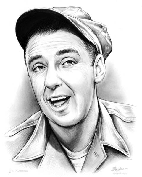 Wall Art - Drawing - Jim Nabors by Greg Joens