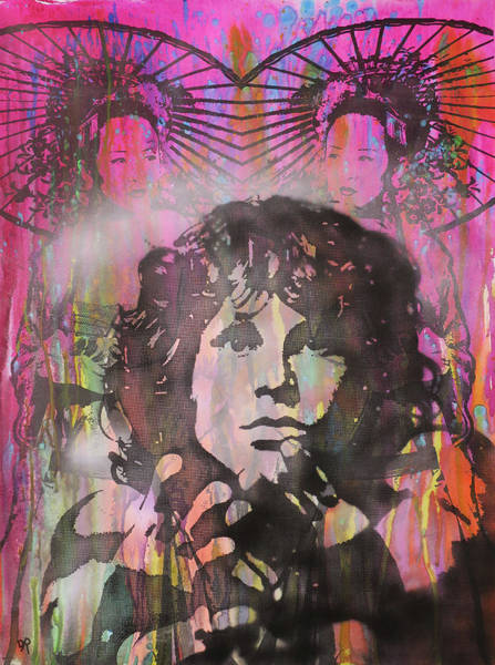 The Doors Wall Art - Painting - Jim Sheltered by Dean Russo Art
