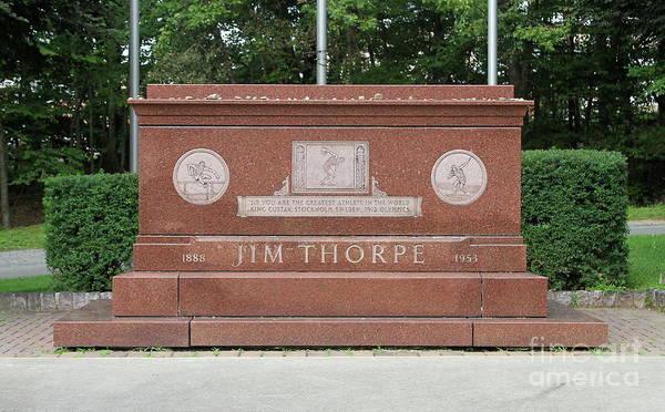 Photograph - Jim Thorpe Memorial by Ken Keener