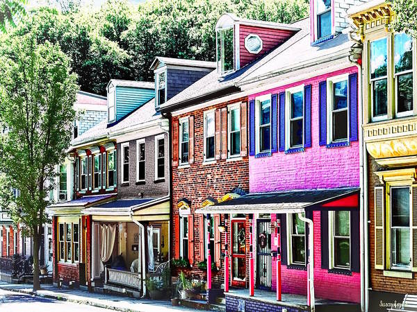 Photograph - Jim Thorpe Pa - Colorful Street by Susan Savad