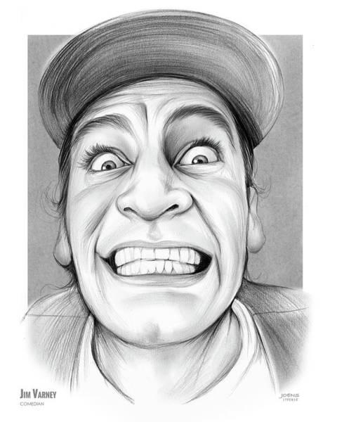 Drawing - Jim Varney by Greg Joens