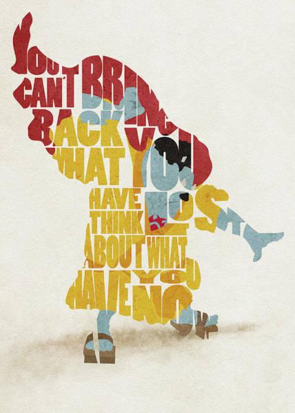 Digital Art - Jimbei Typography Art by Inspirowl Design