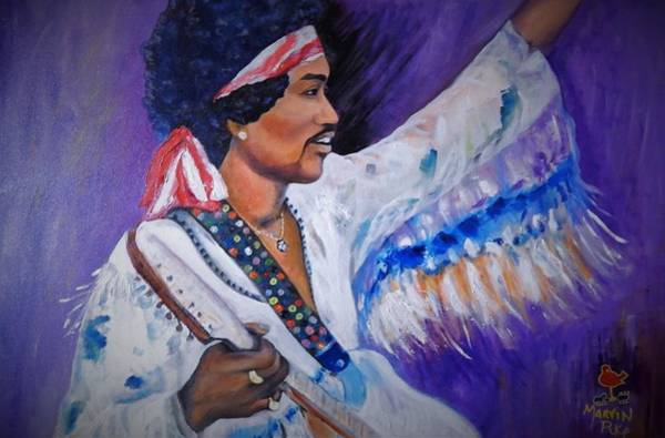 Wall Art - Painting - Jimi At Woodstock by Marvin Pike