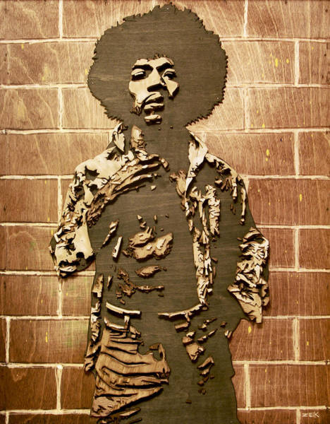 Wall Art - Painting - Jimi by Bobby Zeik