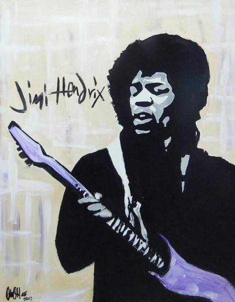 Painting - Jimi Gretness by Antonio Moore