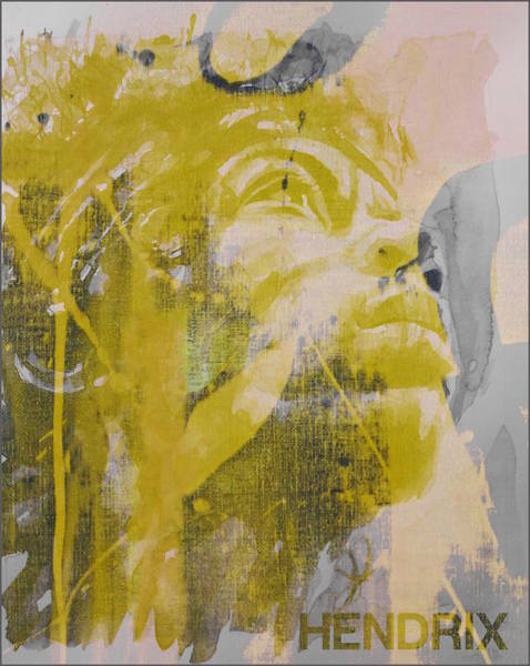 Wall Art - Mixed Media - Jimi Hendrix Art  by Paul Lovering