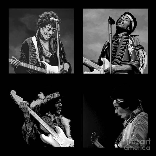 Hard Rock Mixed Media - Jimi Hendrix Collection by Meijering Manupix