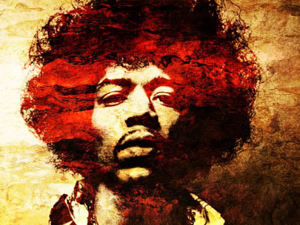Jimi Hendrix Art Print by J  - O   N    E