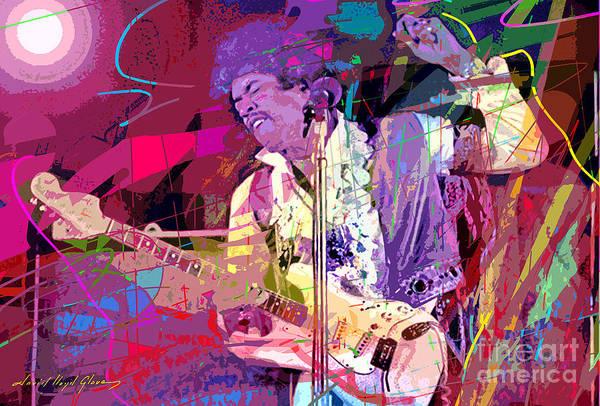 Wall Art - Painting - Jimi Hendrix Monterey Pops by David Lloyd Glover