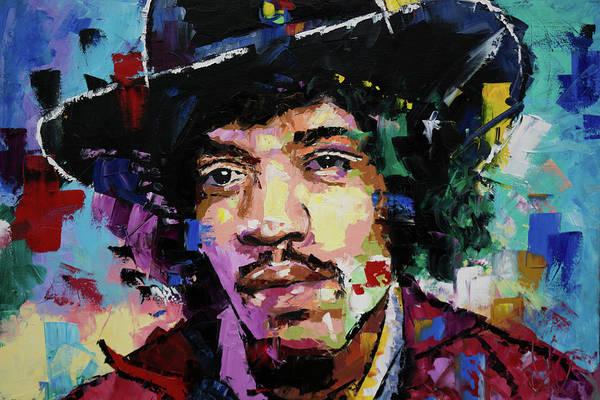 Urban Expressions Wall Art - Painting - Jimi Hendrix Portrait II by Richard Day