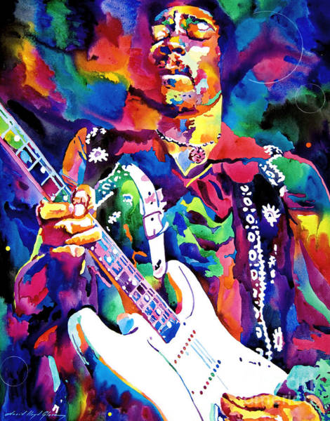 Wall Art - Painting - Jimi Hendrix Purple by David Lloyd Glover