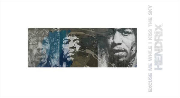 Wall Art - Mixed Media - Jimi Hendrix Triptych by Paul Lovering