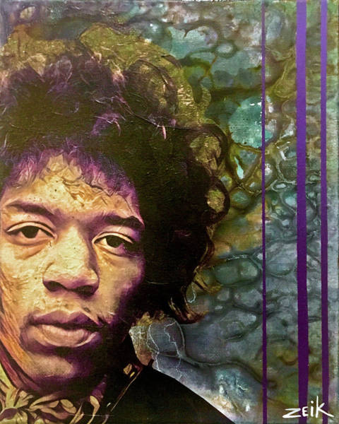Wall Art - Painting - Jimi - I Don't Live Anymore by Bobby Zeik