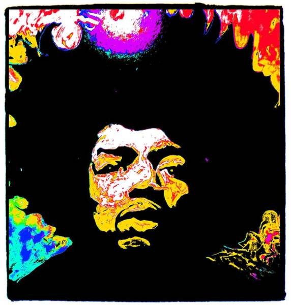 Painting - Jimi by Neal Barbosa