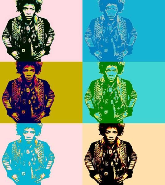 Purple Haze Digital Art - Jimi Pop Art by Dan Sproul