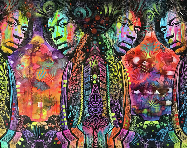 Wall Art - Painting - Jimi Reflect by Dean Russo Art