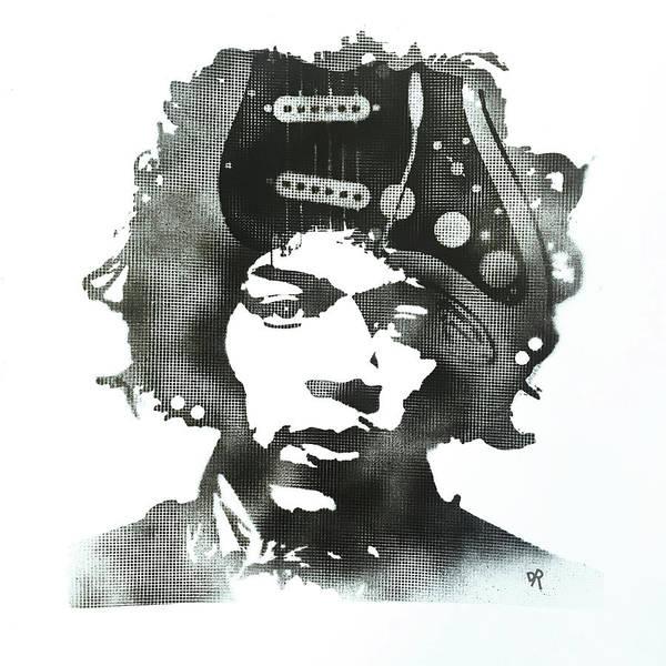 Painting - Jimi Strat Head by Dean Russo Art