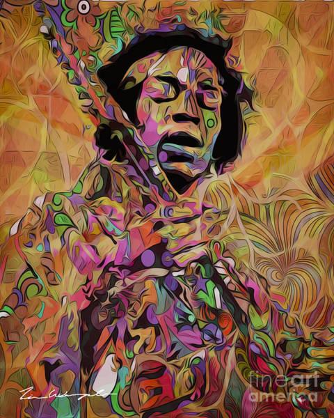 Digital Art - Jimi by Tim Wemple