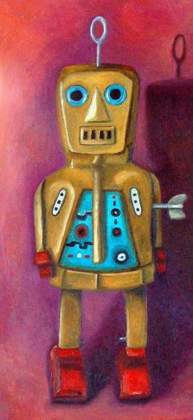 Painting - Jimmy Bob Robot by Leah Saulnier The Painting Maniac