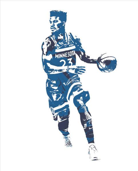 Wall Art - Mixed Media - Jimmy Butler Minnesota Timberwolves Pixel Art 20 by Joe Hamilton
