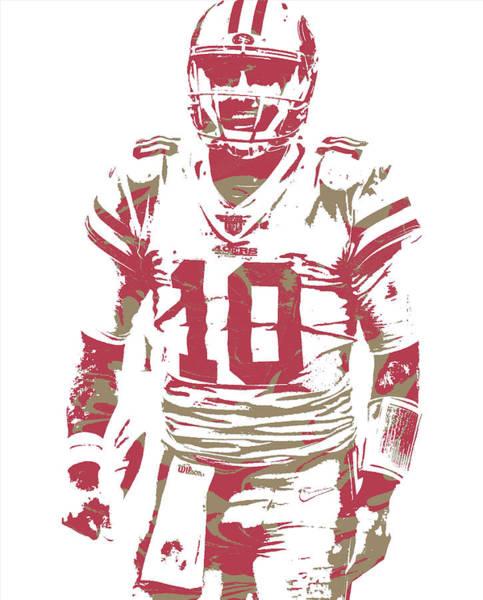 Wall Art - Mixed Media - Jimmy Garoppolo San Francisco 49ers Pixel Art 3 by Joe Hamilton