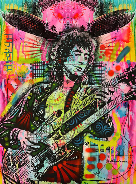 Jimmy Page Painting - Jimmy Page Airship by Dean Russo Art
