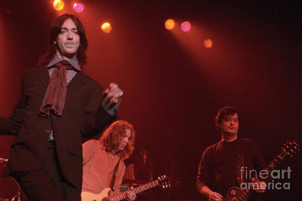 Black Crowes Wall Art - Photograph - Jimmy Page And The Black Crowes by J Bloomrosen