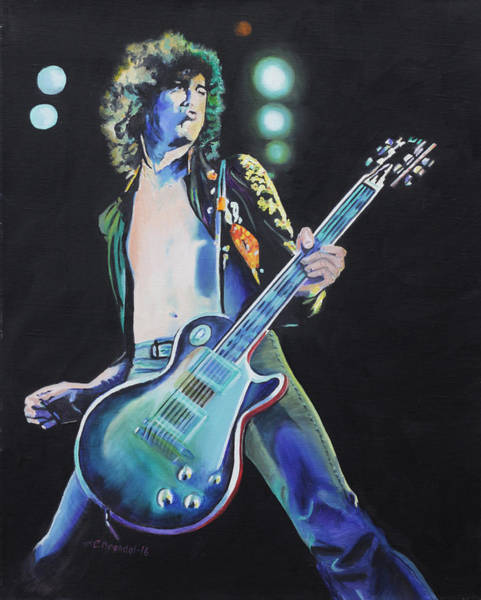 Wall Art - Painting - Jimmy Page by Cecilia Brendel