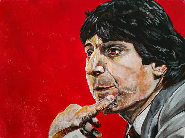 Nc State Wall Art - Painting - Jimmy V by Joel Tesch