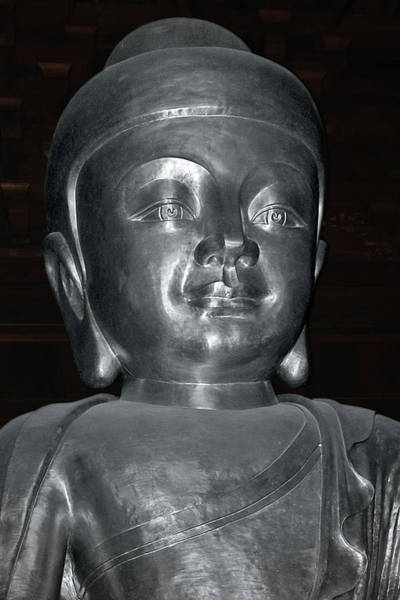 Photograph - Jing'an Silver Buddha - Shanghai China by Christine Till