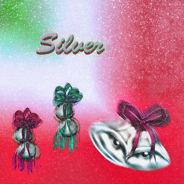 Christmas Season Wall Art - Digital Art - Jingle Bells - Silver Bells by Steve Ohlsen