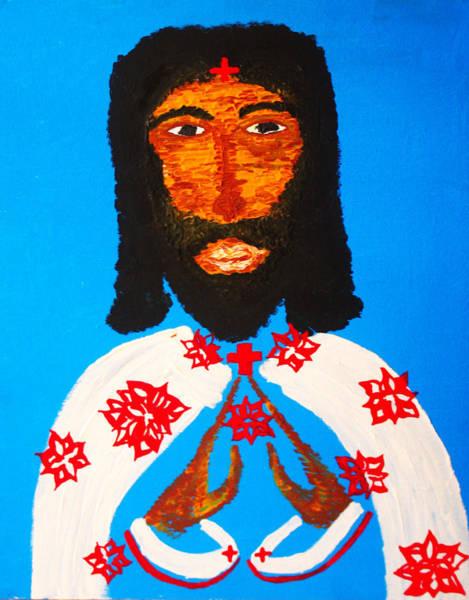 Painting - Jishu Christo by Gloria Ssali