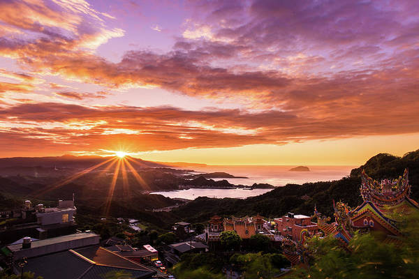 Jiufen Sunset Art Print