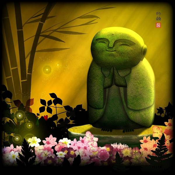 Will Digital Art - Jizo Bodhisattva by John Wills